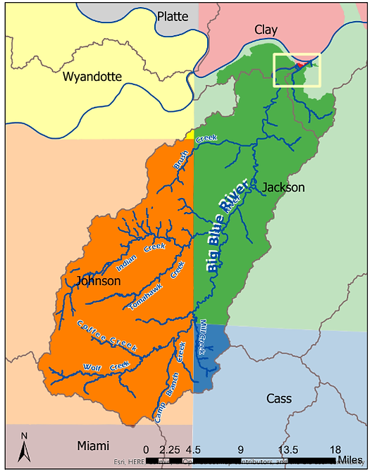 Blue River Counties Map.png