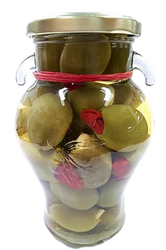 Garlic and Green Chile Olives