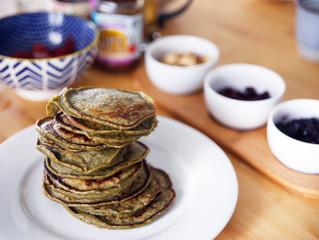 Basic Matcha Pancakes