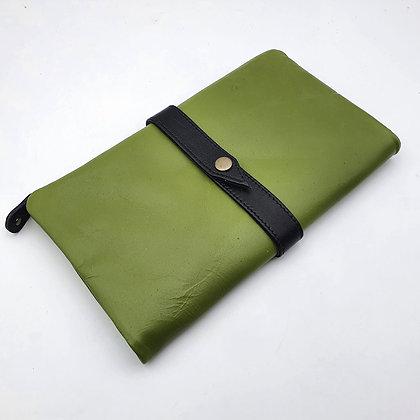 Portefeuille Souple Vert (cuir intérieur couleurs multiples)