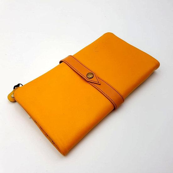 Portefeuille Souple Moutarde (cuir couleurs multiples)