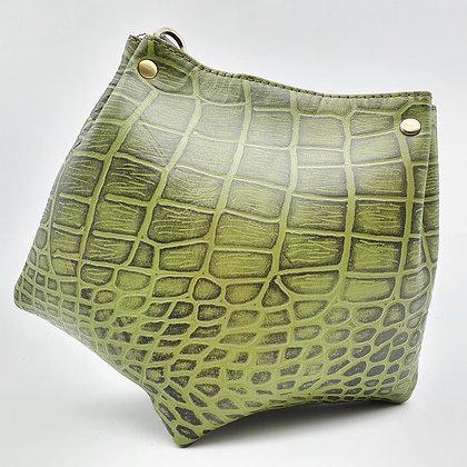 Mini Barock Total Look Croco Vert
