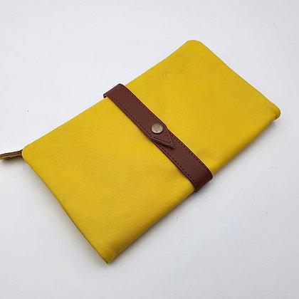 Portefeuille Souple Jaune (cuir couleurs intérieur multiples)