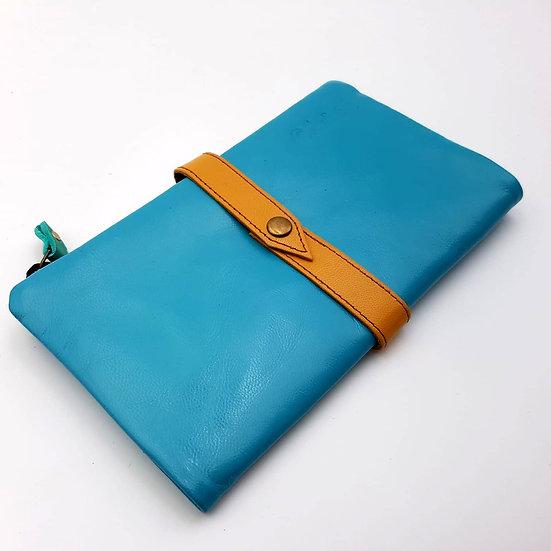 Portefeuille Souple Bleu Turquoise (cuir couleurs multiples)