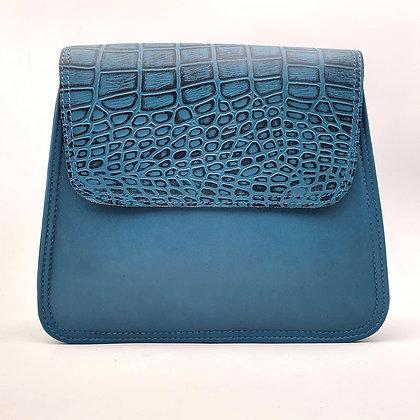 Solange Turquoise Rabat Croco Turquoise