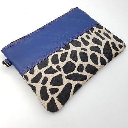 Pochette Chaînette Bleu Girafe