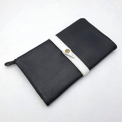 Portefeuille Souple Noir (cuir couleurs intérieur noir)