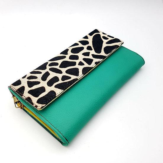 Compagnon vert / girafe (cuir couleurs multiples)