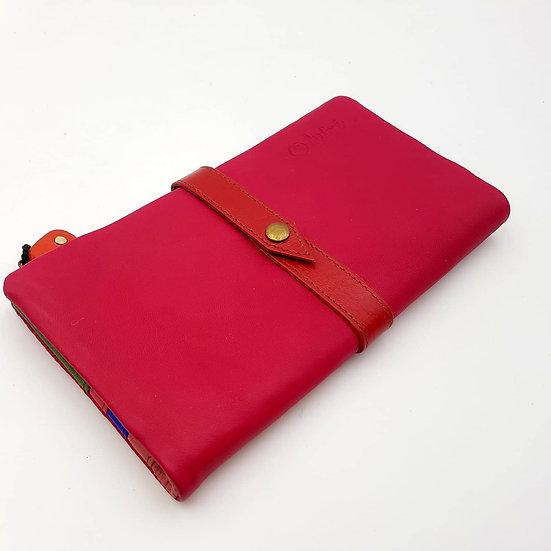 Portefeuille Souple Fushia (cuir couleurs multiples)