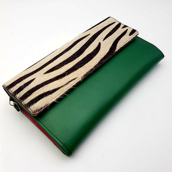 Compagnon Vert Zébré (cuir couleurs multiples)