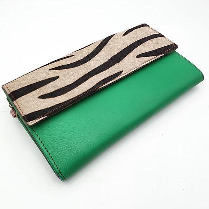 Compagnon Vert Zèbre (cuir couleurs intérieur multiples)