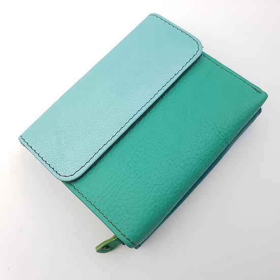 Portefeuille Vert d'Eau Turquoise (cuir couleurs multiples)