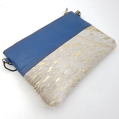 Pochette Chaînette Bleu Doré