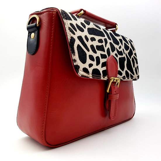 Grand Cartable Rouge Girafe