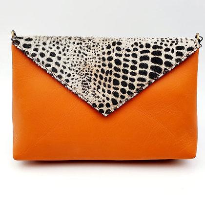 Enveloppe Orange Croco