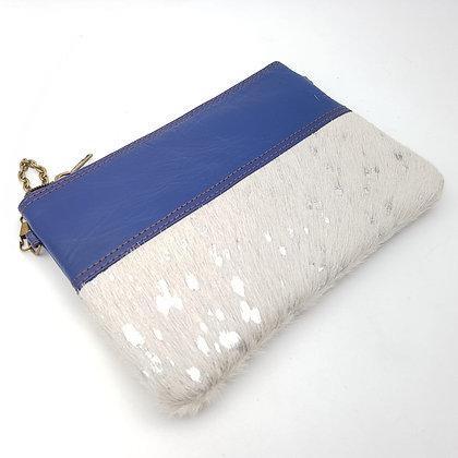 Pochette Chaînette Bleu Argenté