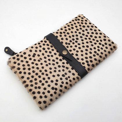 Portefeuille Souple Pois Noirs (cuir intérieur couleurs multiples)