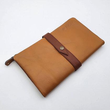 Portefeuille Souple Camel (cuir couleurs intérieur multiples)
