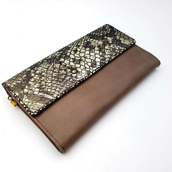 Compagnon Chocolat Python (cuir couleurs multiples)