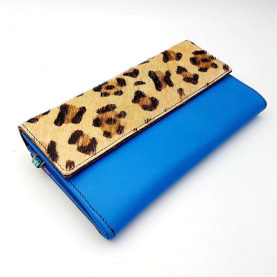Compagnon bleu / léopard (cuir couleurs multiples)