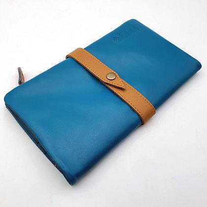 Portefeuille Souple Turquoise (cuir intérieur couleurs multiples)