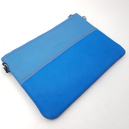Pochette Chaînette Bleu Ton sur ton