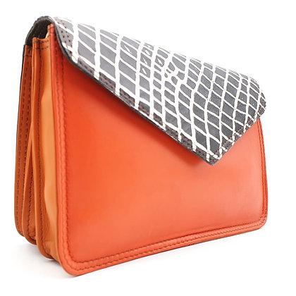 Book Orange Croco (sans poil)