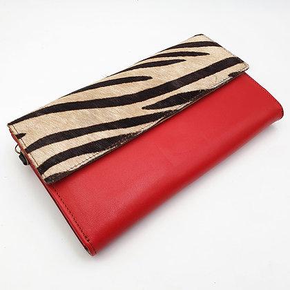 Compagnon Rouge Zébré (cuir couleurs intérieur multiples)