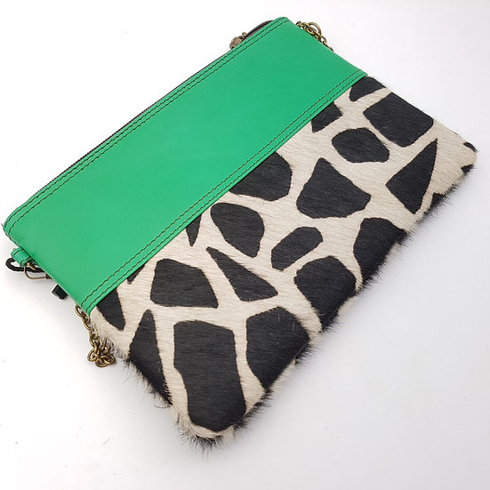 Pochette Chaînette Vert d'Eau Girafe