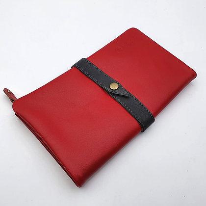 Portefeuille Souple Rouge (cuir couleurs intérieur multiples)
