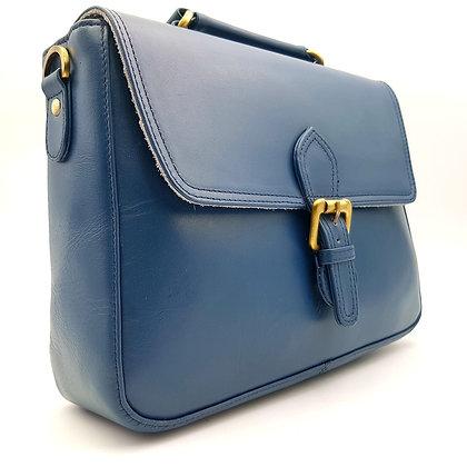 Grand Cartable Bleu Uni
