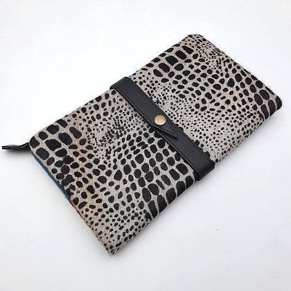 Portefeuille Souple Croco (cuir intérieur couleurs multiples)