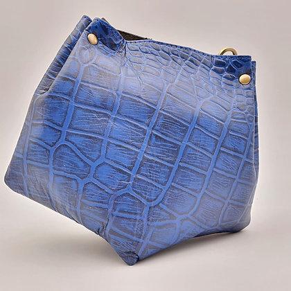 Mini Barock Total Look Croco Bleu