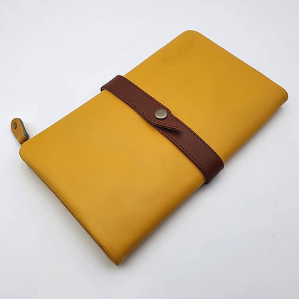 Portefeuille Souple Moutarde (cuir intérieur couleurs multiples)