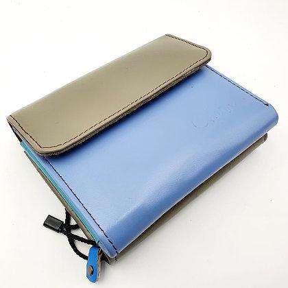 Portefeuille Bleu Gris (cuir couleurs multiples)
