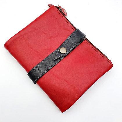Portefeuille Souple Flex Rouge (cuir couleurs multiples)