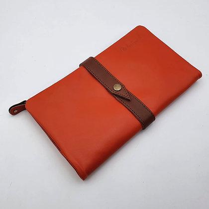 Portefeuille Souple Orange (cuir couleurs intérieur multiples)