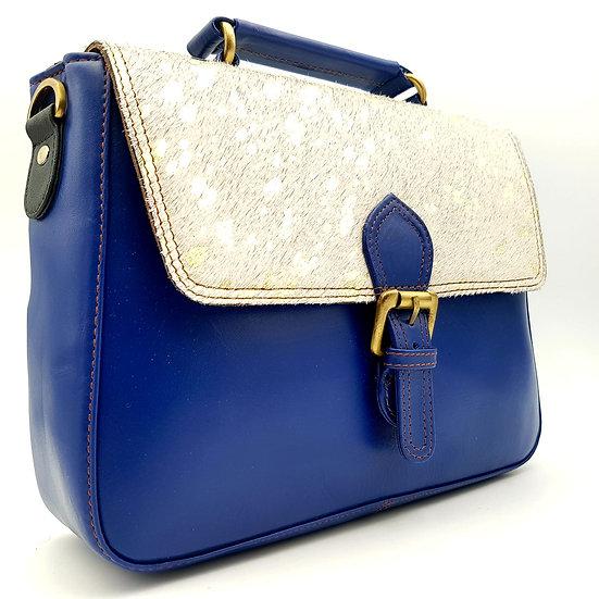 Grand Cartable Bleu Doré