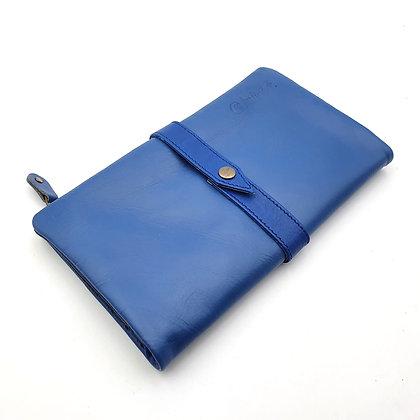 Portefeuille Souple Bleu (cuir intérieur couleurs multiples)