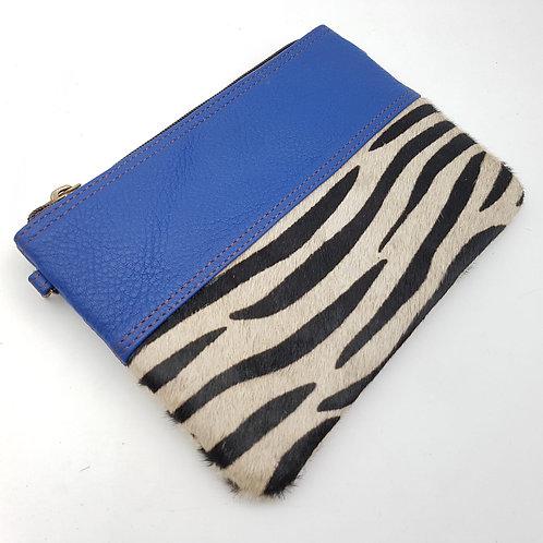 Pochette Chaînette Bleu Zèbre