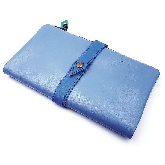 Portefeuille Souple Bleu Lavande (cuir couleurs multiples)