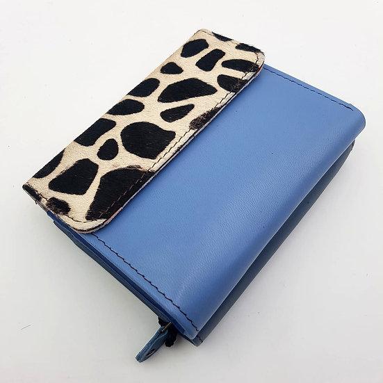 Portefeuille Carré Bleu Léopard (cuir couleurs multiples)