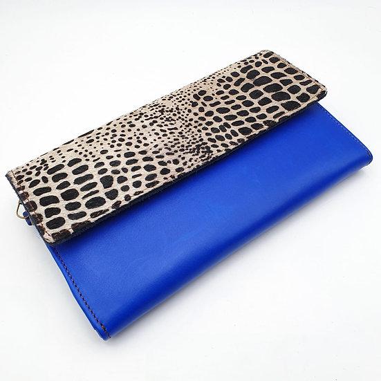 Compagnon Bleu Croco (cuir couleurs intérieur multiples)