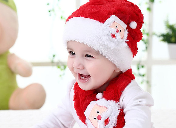 Baby Santa Hat and Scarf Set