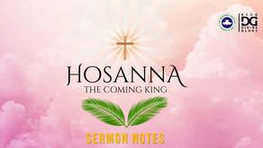 Hosanna! The Coming King Sermon Notes