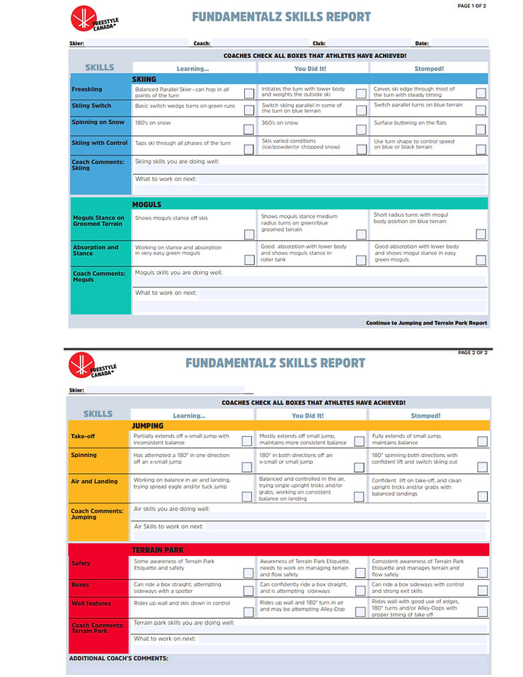 SAFSC 10 week Freestyle Program 2019&20
