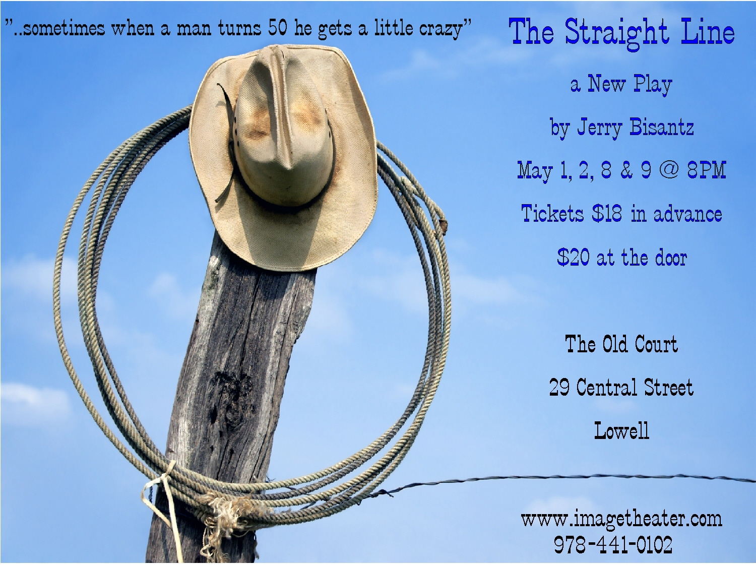 Straight Line a new play by Jerry Bi