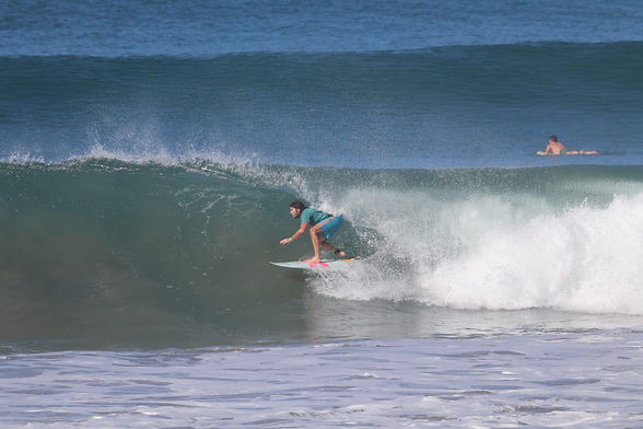 Dan Massore surfing Form Surfboards ADPT surfboard in Costa Rica