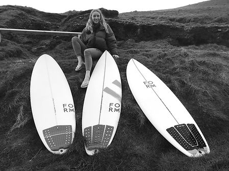 Sophie Whitaker Form Surfboards Highline GoTo and Fruit Scoop
