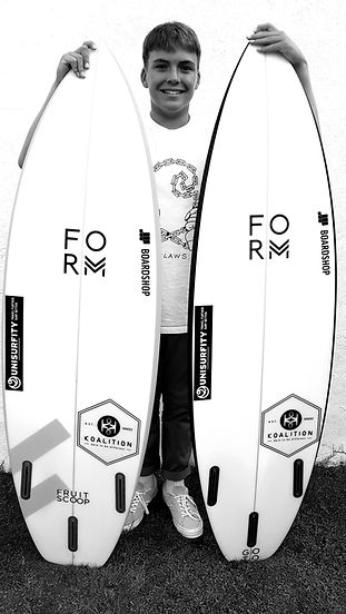 Form Surfboards Fruit Scoop and GoTo surfboards